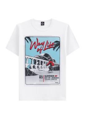 camiseta juvenil masculina life branco fico 48409