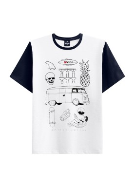 camiseta juvenil masculina life branco fico 48413