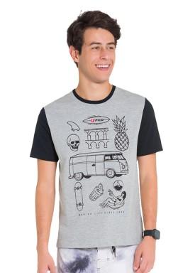 camiseta juvenil masculina life mescla fico 48413 1