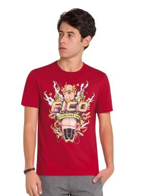 camiseta juvenil masculina surfing vermelho fico 48412 1
