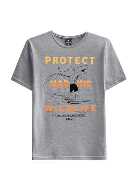 camiseta juvenil masculina wildlife mescla fico 48420