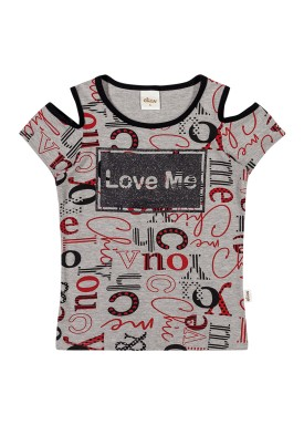 blusa infantil feminina love mescla elian 251336
