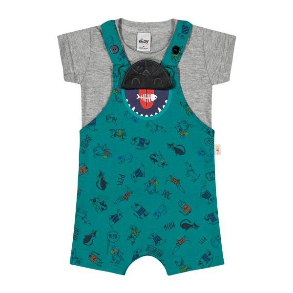 conjunto bebe masculino pets verde elian 20859