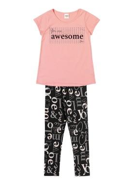 conjunto infantil feminino awesome rosa elian 251320
