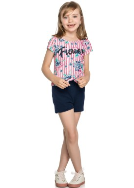 conjunto infantil feminino flowers rosa elian 251327 1
