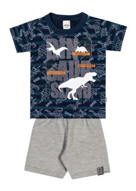 conjunto infantil masculino dinossauros marinho elian 221012 1