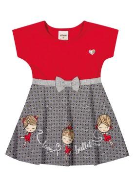 vestido bebe feminino ballet vermelho elian 21993
