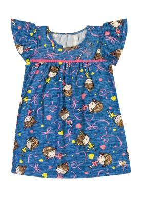vestido bebe feminino estampado marinho elian 21992