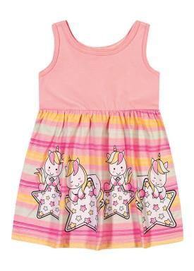vestido bebe feminino unicornios rosa elian 211003
