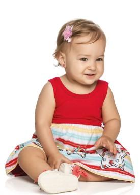 vestido bebe feminino unicornios vermelho elian 211003 1