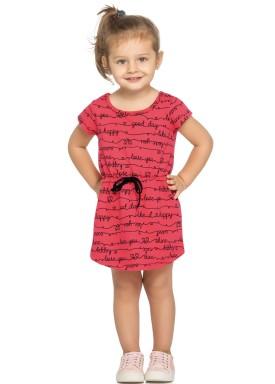 vestido infantil feminino love vermelho elian 231346 3