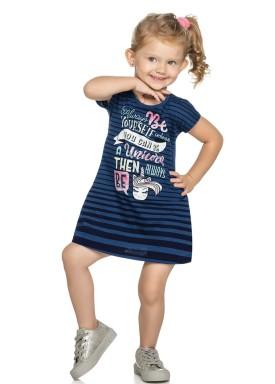 vestido infantil feminino unicorn marinho elian 231340 3