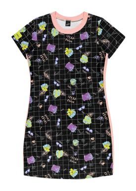 vestido juvenil feminino fresh preto elian beats 27967