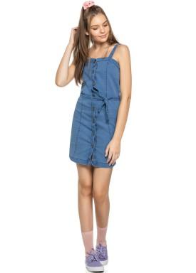 vestido juvenil feminino jeans azul elian beats 27962 3