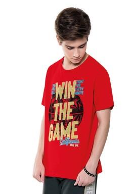 camiseta juvenil masculina game vermelho fakini 2852 1