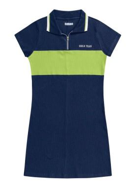 vestido juvenil feminino team marinho fakini 2827