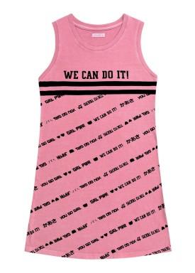 vestido juvenil feminino we can rosa fakini 2824