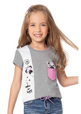 blusa infantil feminina happy mescla alenice 47042 1