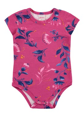 body bebe feminino flores rosa alenice 41017