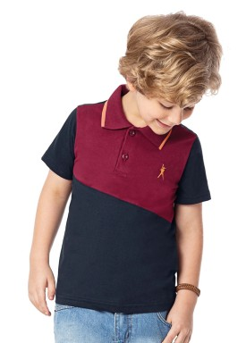 camisa polo infantil masculina baseball bordo alenice 47013 1