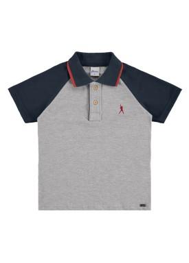 camisa polo infantil masculina baseball mescla alenice 47023