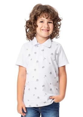camisa polo infantil masculina viajar branco alenice 47003 1