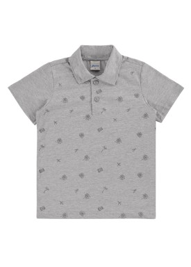 camisa polo infantil masculina viajar mescla alenice 47003