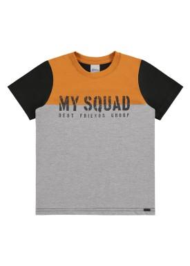 camiseta infantil masculina squad mescla alenice 47020