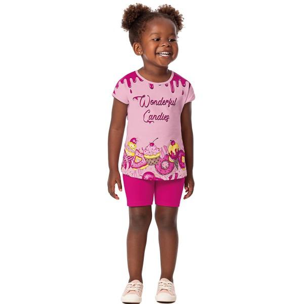 conjunto infantil feminino candies rosa alenice 44354 1