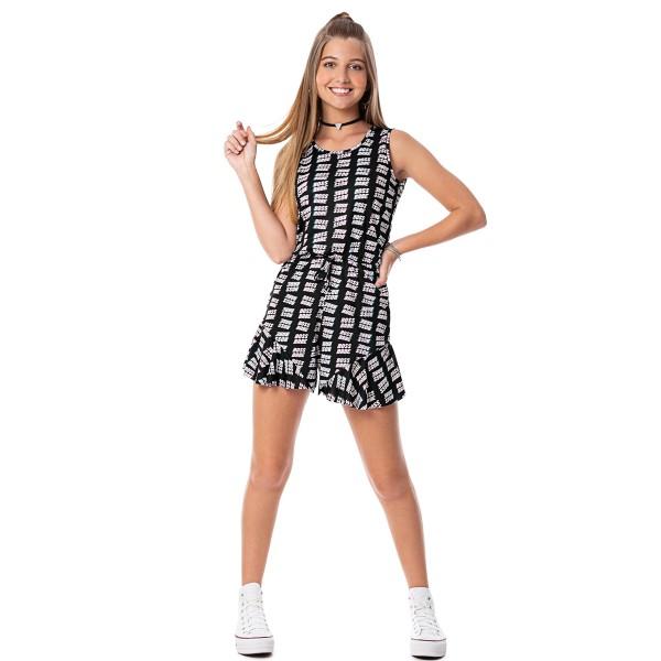 macaquinho juvenil feminino babe preto rezzato 30715 2