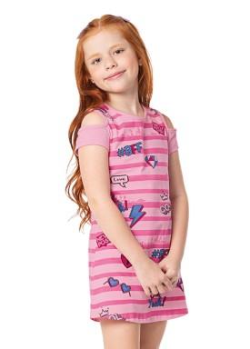 vestido infantil feminino cool rosa alenice 47034 1