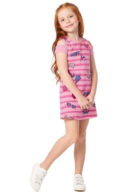 vestido infantil feminino cool rosa alenice 47034 4