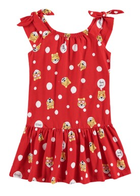 vestido infantil feminino hello vermelho alenice 47044