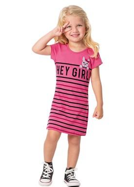 vestido infantil feminino heygirl rosa alenice 44351 3