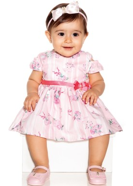macacao meia manga bebe menina flamingos rosa paraiso 9724 1