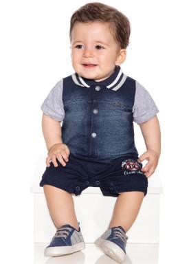 macacao meia manga bebe menino denim jeans paraiso 9844 1