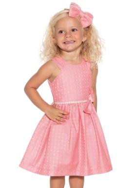 vestido jacquard infantil feminino coral paraiso 9900 2