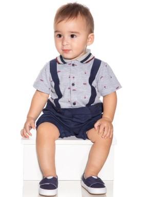 macacao meia manga bebe menino beach mescla paraiso 9710 1