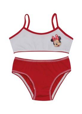 conjunto top calcinha infantil feminino minnie vermelho evanilda 22030003