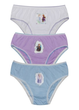 kit calcinha 3pc s infantil feminina frozen evanilda 01310002