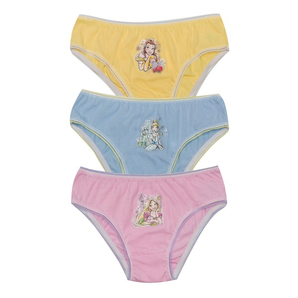 kit calcinha 3pc s infantil feminina princesas evanilda 01030018