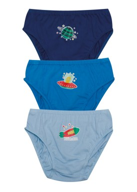 kit cueca 3pc s infantil masculina space evanilda 02010045