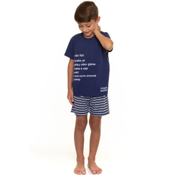 pijama curto infantil masculino napper marinho evanilda 52010015