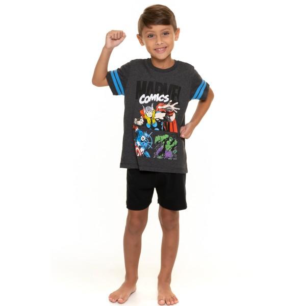 pijama curto infantil masculino vingadores mescla evanilda 52050025