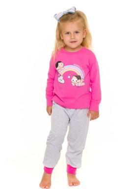 pijama longo infantil feminino turma monica pink evanilda 40040013