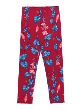 calca legging infantil feminina folhas vermelho alakazoo 39644
