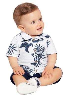 conjunto bebe masculino folhas branco alakazoo 39650 1