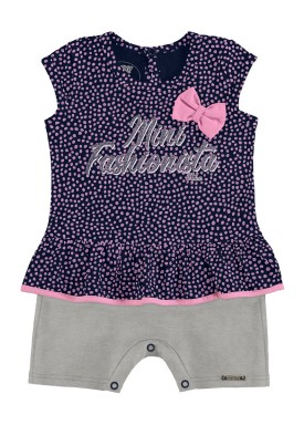macaquinho bebe feminino fashionista marinho alakazoo 39539