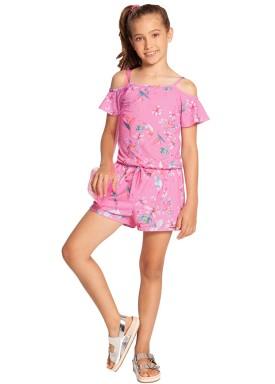 macaquinho infantil feminino floral rosa alakazoo 39621 1
