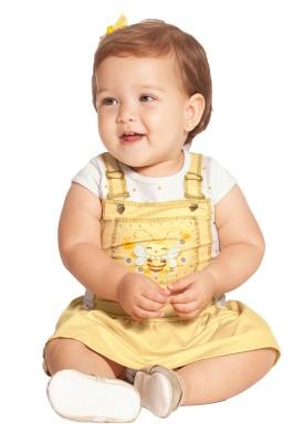 vestido bebe feminino abelhinha amarelo alakazoo 39541 1